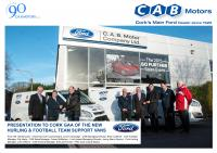 CAB Motors Support Cork Senior Hurling and Football Teams
