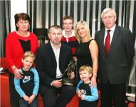Diarmuid O'Sullivan with his family at 96Fm C103 Award Presentation