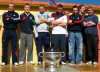 Cork Footballers visit Scoil Eoin