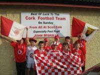 Scoil Eoin Rebels supporting past pupil John Miskella