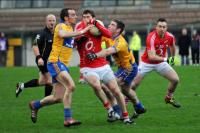 Action from McGrath Cup Cork v Clare