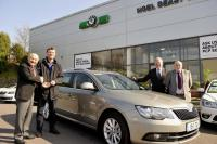 Skoda and Noel Deasy Motors have teamed up to present Jimmy Barry Murphy Cork Hurling manager a courtesy car for 2015
