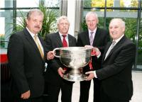 Bob Ryan, Jerry O Sullivan, Gerard Lane and Frank Murphy with Sam Maguire