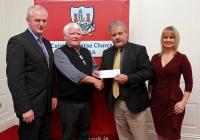 League Cheque Presentations 2012