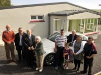 Cork GAA Clubs Draw August Winner. Mary Whooley Argideen Rangers collects the keys for her new Mercedes C-180 from Pearse Murphy