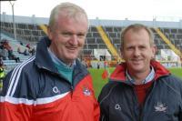 Gerard Lane and Denis O'Flynn at Cork v Clare
