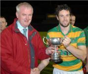 Gerard Lane presents IHL 1 Cup to Patrick Dwyer Ballymartle