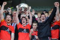 County SFC Sean Kiely (UCC) Lifts Andy Scanell Cup