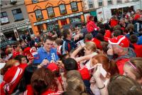 Graham Canty is mobbed in Dunmanway!