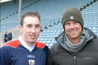 Graeme from Oz with John Gardiner at Cork v Galway
