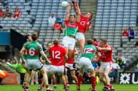 Aidan Walsh goes highest v Mayo
