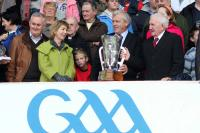 Carrigtwohill Legend Willie John Daly with the Cup