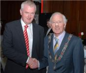 Gerard Lane with Deputy Mayor John Kelleher at Medal Dinner
