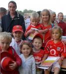 Helper Tracey Kennedy with Cork Fans at Training