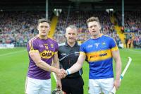 AHL S/F Tipperary v Wexford - Referee Diarmuid Kirwan & Captains