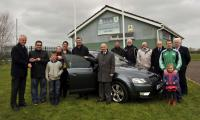Cork Club Draw February Winner: Kieran Brett Ballinure collects the keys of his new Skoda Octavia  from Chairman Ger Lane
