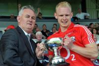 Carthach Keane accepts the All-Ireland JFC Cup 2011