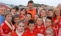 Cork Fans with Eoin Cadogan at Training