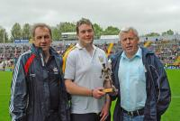 Poc Fada Winner Jason Condon (Fermoy) with Noel Crowley and Jerry O Sullivan
