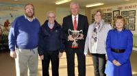 Presentation of the Jim Sarsfields Cup to the County Board by Sarsfields Family