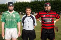 Colm Lyons with both Captains