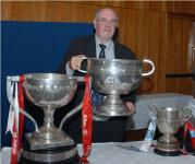 Cork Photographer George Hatchell with Sam Maguire at Medal Dinner