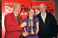 Roger Ryan & Pat Horgan (SHL Committee) with Fiona Darcy, RedFM CEO