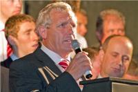 Jerry O'Sullivan Addresses the Crowds