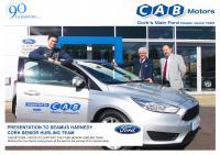 CAB Motors Support Cork Senior Hurling Ambassador Seamus Harnedy