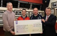 Presentation of Lee Flag Cheque