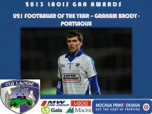2013 Laois GAA Awards - U21 Football - Graham Brody - Portlaoise