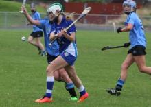 Laois's Claire Walsh (The Harps) about to strike in their victory over Dublin in the Liberty Insurance All Ireland Premier Junio