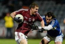 Gary Sice, Galway, in action against Padraig McMahon, Laois