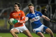 Stephen Campbell, Armagh, in action against Denis Booth, Armagh v Laois, Athletic Grounds, Armagh