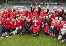 Celebrations after Shanahoe won the Laois IHC final at O Moore Park. Picture Alf Harvey hrphoto.ie
