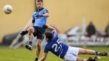 Jonny Cooper, Dublin, in action against Mark O'Halloran, Laois. Bord na Mona O'Byrne Cup, Group A, Round 3, Laois v Dublin, McCa