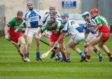 Action from the senior hurling championship clash between Borris Kilcotton and Castletown Slieve Bloom. Photo Denis Byrne.