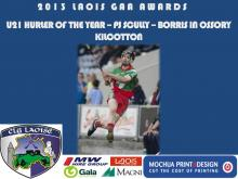 2013 Laois GAA Awards - U21 Hurling- PJ Scully - Borris in Ossory Kilcotton