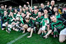 Ballyfin celebrate at O'Moore Park Portlaoise