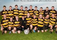 The Heath Team which took the Minor Football B League Final Title at McCann Park on Wednesday night last. Picture Denis Byrne.