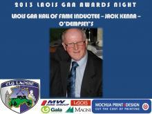 2013 Laois GAA Awards - Hall of Fame - Jack Kenna - O Dempseys