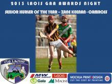 2013 Laois GAA Awards - Senior Hurling - Zane Kennan - Camross
