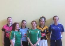 Six finalists at the Ladies One-Wall finals (including winner Niamh Dunne)