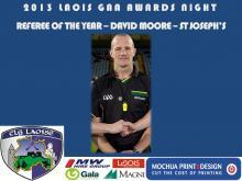 2013 Laois GAA Awards - Referee - David Moore - St Josephs