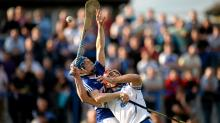 Brian Campion, Laois, in action against Seamus Prendergast, Waterford. GAA Hurling All-Ireland Senior Championship, Round 1, Wat