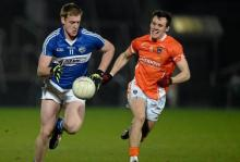 Donal Kingston, Laois, in action against Mark Shields, Armagh