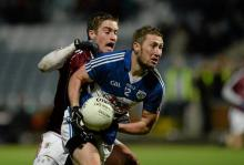 Billy Sheehan, Laois, in action against Gary O'Donnell, Galway