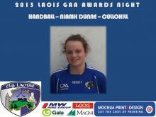 2013 Laois GAA Awards - Handball - Niamh Dunne - Cullohill