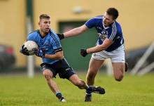 Jonny Cooper, Dublin, in action against Mark O'Halloran, Laois
