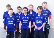 Laois competitors at last Saturday's Leinster Juvenile Handball Finals in Leixlip